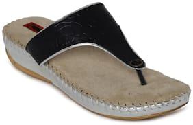1 WALK COMFORTABLE DR SOLE WOMEN--FLATS/SANDALS/FANCY WEAR/PARTY WEAR/ORIGINAL/SLIPPERS/CASUAL FOOTWEAR--BLACK