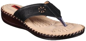 1 WALK COMFORTABLE DR SOLE WOMEN_FLATS/SANDALS/FANCY WEAR/PARTY WEAR/ORIGINAL/SLIPPERS/CASUAL FOOTWEAR_BLACK
