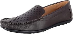 1AAROW Men Brown Loafers - 093-BROWN-LOAFER