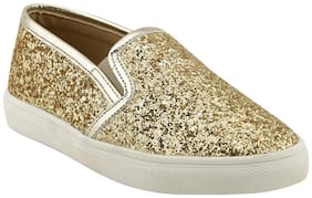 Bruno Manetti Men Gold Sneakers