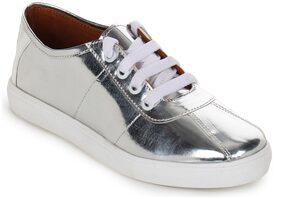 AADVIT Women Silver Sneakers Shoes