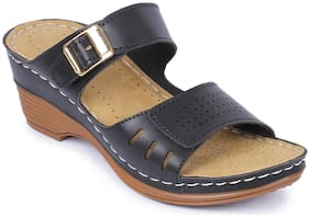 AADVIT Women Black Sandals