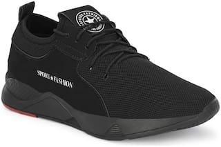 AARAVIN'S Men AR_145_BLACK Running Shoes ( Black )