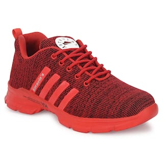 AARAVIN'S Men AR_166_RED Running Shoes ( Red )