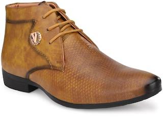 AARAVIN'S Derby Formal Shoes For Men ( TAN )