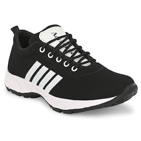 AARAVIN'S Men AR_160_BLACK Running Shoes ( Black )