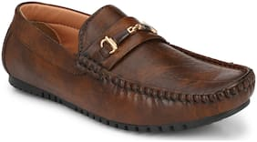 AARAVIN'S Men Brown Loafer