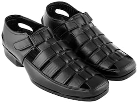 Aarnato Men Black Sandals & Floaters