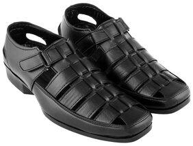 Aarnato Men Black Sandals & Floaters