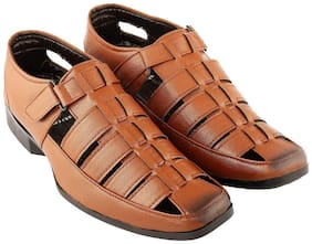 Aarnato Men Tan Sandals & Floaters