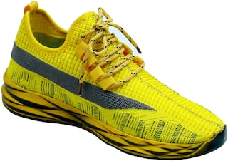 Aash Posh Casual Shoes For Men ( Yellow )