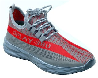 Aash Posh Men Grey Casual Shoes - WN3002_GREY+RED_10