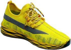 Aash Posh Men Yellow Casual Shoes - WN3002_YELLOW+BLACK_6