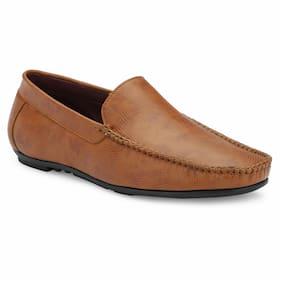 Aash Posh Men Tan Loafers