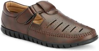 Aash Posh Sandals For Unisex ( Brown )
