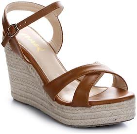 Aber & Q Women Brown Heeled Sandals