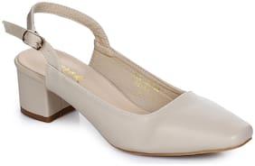 Aber & Q Women Beige Heeled Sandals