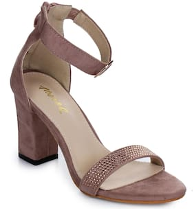 Aber & Q Women Pink Heeled Sandals