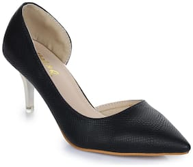 Aber & Q Women Black Heeled Sandals