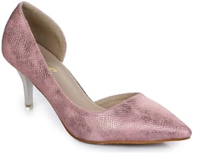 Aber & Q Women Pink Heeled Sandals