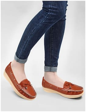 Action Women Brown Loafers