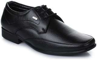 Action Men Black Derby Formal Shoes - SR-153-BLACK