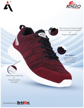 Action Men Running Shoes ( Red )
