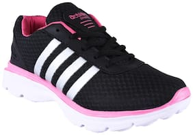 Action ESL-409 Women's Black-Pink Mesh Sports Shoes Running Shoes For Women ( Pink )