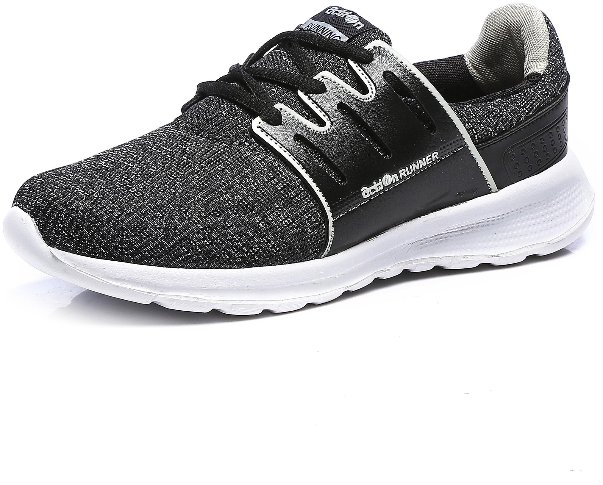 Action Men Athleo Running Shoes ( Black