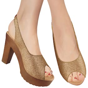 Women Sandals ( Bronze )