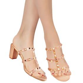 Action Women Pink Heeled Sandals -