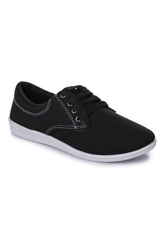 07f479350b1a9 Buy Action Women Black Casual Shoes Online at Low Prices in India ...