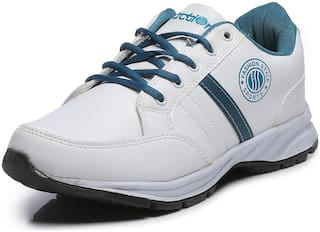 Action Shoes White- Navy Lace up Sports Shoes