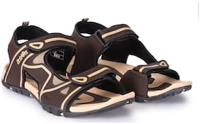 Action Shoes Brown Sandals PHY-5001-BROWN-BEIGE