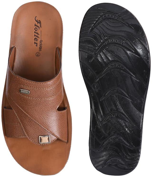 Action Men Tan Outdoor Slippers