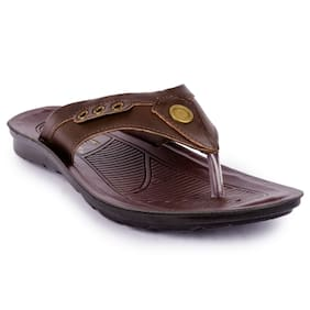 Action shoes Men Slippers PG-2611-BROWN