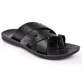 Action Shoes Flotter Men Slippers Pg-2571-black
