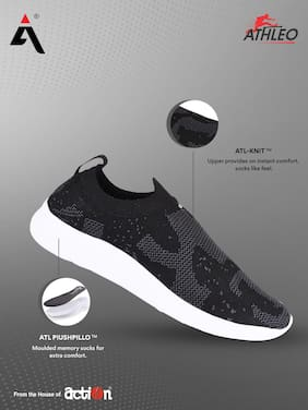 Action Men Running Shoes ( Grey & Black )