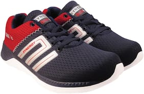 Action Men 7345-NavyBlueRed Running Shoes ( Blue )