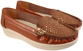 Action Women Tan Loafers