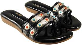 Action Women Black Sandals