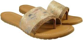 Action Women Gold Sandals