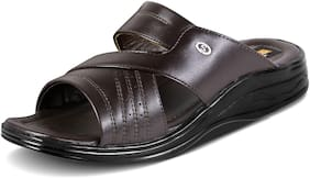 Action Synergy Men's Formal Slippers Brown PU10300