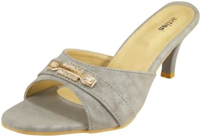 Action Synergy Metallic Crystal Rhinestone Signora3 Kitten Heel Sandal For Women's