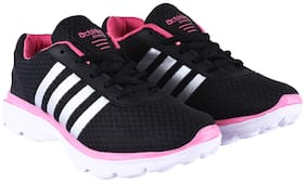 Action Women ESL-409-BLACK-PINK Running Shoes ( Black )