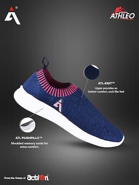 Action Women ATL-76-NAVY-PINK Running Shoes ( Navy Blue )