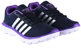 Action Women ESL-409-NAVY-PURPLE Running Shoes ( Purple )