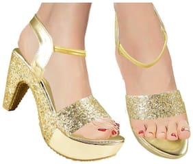 Action Women Gold Pumps