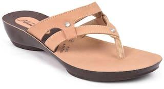 Action Women Brown Flats & Sandals