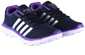 Action Women ESL-409-NAVY-PURPLE Running Shoes ( Purple )